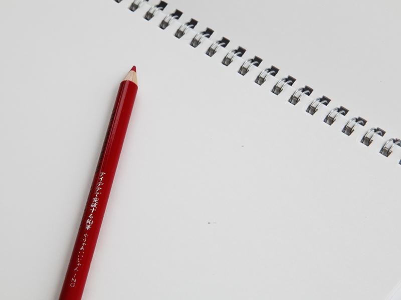 ▲ それぞれの色鉛筆にも、「やりゃあいいじゃん」という言葉が刻まれています。