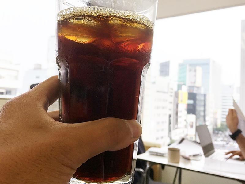 東京オフィスのおいしいコーヒー。