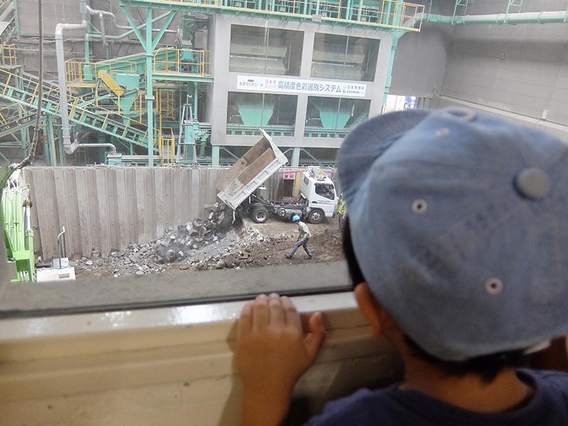 ▲ここでは、コンクリートをリサイクル。
