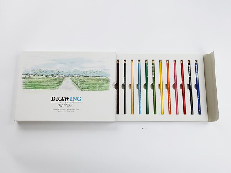 ▲ 社員ひとりひとりに未来を描いてもらえるように、色鉛筆をセットにしました。
