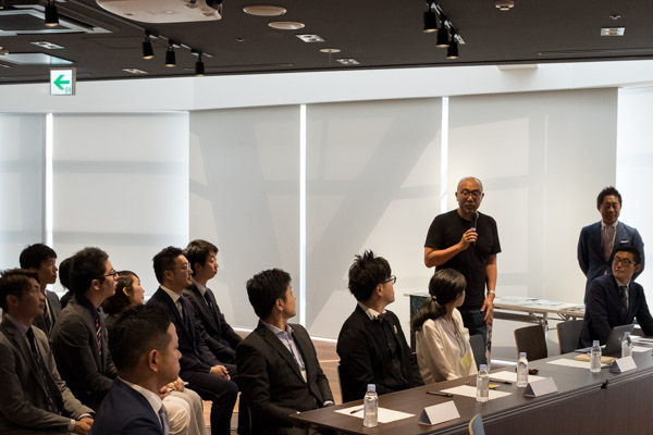 ▲ゲスト審査員の楠木建先生からもご挨拶をいただきました。ユーモアがありつつも本質的な言葉を繰り出されます。