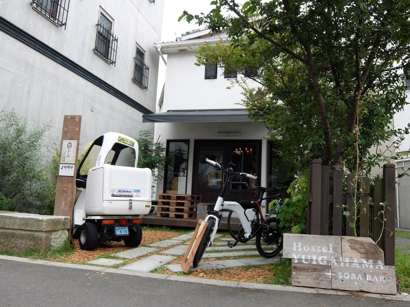 ▲10分ほど歩いて、着きました!今回お世話になります「Hostel YUIGAHAMA」です。