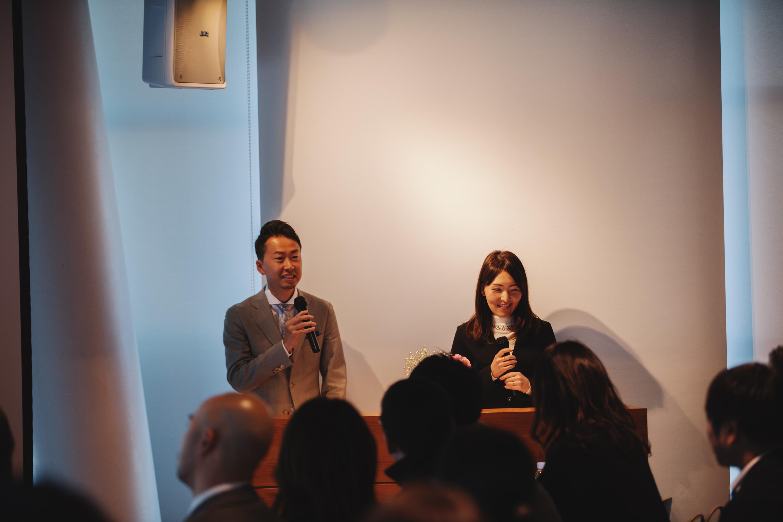 ▲司会もパラドックスメンバーが務めます。今年は遠藤(左)と高田(右)が担当。